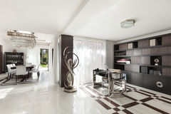 Beautiful hall of a luxury apartment Stock Images
