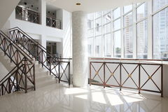 Beautiful hall with stair. Modern and bright european hall with stair Royalty Free Stock Image
