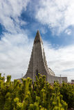 Beautiful Hallgrimskirkja church in Reykjavik, Iceland Royalty Free Stock Images
