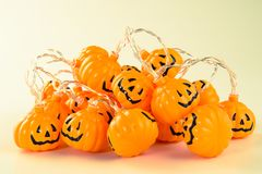 Beautiful halloween decoration trick or treat royalty free stock images