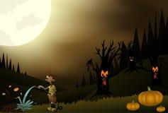 Beautiful Halloween Night Stock Image