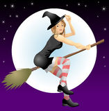 Beautiful Halloween witch Stock Photos