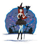 Beautiful Halloween witch Royalty Free Stock Images