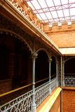 The beautiful halls with ornamental steel fence in the palace of bangalore. Bangalore Palace, a palace located in Bangalore, Karnataka, India. Construction of Royalty Free Stock Image