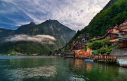 Hallstatt alpine village on a lake in Salzkammergut, Austria Royalty Free Stock Image