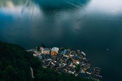 Beautiful Hallstatt in Alps mountains royalty free stock photography