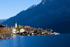 Beautiful Hallstatt in Austria Stock Photography