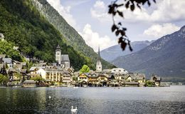 Beautiful Hallstatt in Austria royalty free stock photography