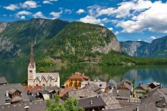Beautiful Hallstatt lake in Austria Royalty Free Stock Photography