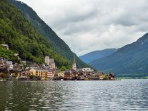Beautiful Hallstatt village and alpine lake. Hallstatt is famous place in Austria, region of Salzkammergut, Europe. Royalty Free Stock Image