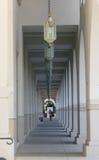 The beautiful hallway at Pasadena. Los Angeles, California Royalty Free Stock Photo