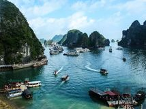 Beautiful halong. When i was traveling around vietnam Stock Images