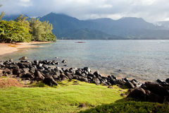 Beautiful Hanalei Bay Stock Photo