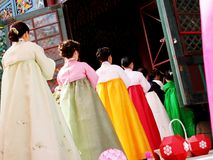Beautiful hanbok royalty free stock photo