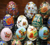 Beautiful Hand Crafted Easter Eggs Royalty Free Stock Image