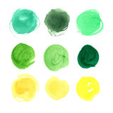 Beautiful hand drawn abstract watercolor stain background. Stock Photo