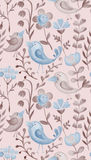 Beautiful hand drawn decorative floral elements and birds for de Royalty Free Stock Images