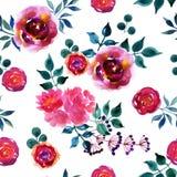 Beautiful hand-drawn flowers Stock Photography