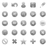 Beautiful hand-drawn icons Royalty Free Stock Photography