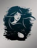 Beautiful hand drawn woman fashion illustration Stock Images