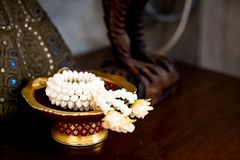 Beautiful hand garland - Thai style stock images
