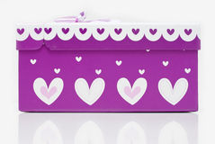 Beautiful hand-made purple gift box Stock Photo