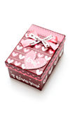 Beautiful hand-made red gift box Stock Photography
