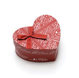 Beautiful hand-made red heart gift box Stock Photography