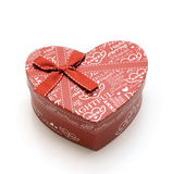 Beautiful hand-made red heart gift box Royalty Free Stock Photography