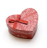 Beautiful hand-made red heart gift box Royalty Free Stock Images