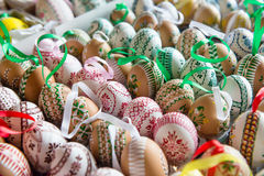 Beautiful hand painted Easter eggs Royalty Free Stock Photography