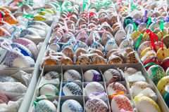 Beautiful hand painted Easter eggs Stock Photos
