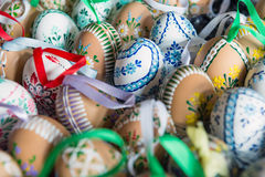 Beautiful hand painted Easter eggs Stock Photography