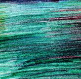 Beautiful hand painting illustration in green color. Pencil paint paper textured element for copy space, greeting card royalty free stock photos