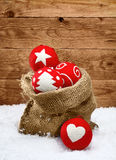 Beautiful handcrafted Christmas decorations Stock Image