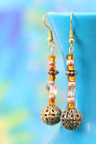 Beautiful handcrafted earrings Royalty Free Stock Photography