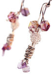 Beautiful handcrafted earrings Royalty Free Stock Image