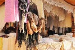 Beautiful handicraft shop Stock Images