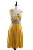 Beautiful handmade dress on manequin Royalty Free Stock Image