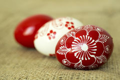 Beautiful handmade Easter eggs Stock Image