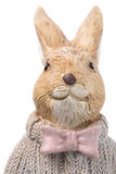 Beautiful handmade easter rabbit. Royalty Free Stock Image