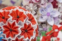 Beautiful handmade flowers. Paper flowers Royalty Free Stock Photo