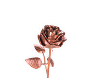 Beautiful handmade golden rose. Stock Photo
