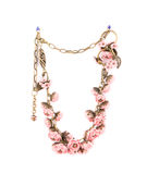 Beautiful handmade necklace. Royalty Free Stock Image
