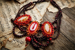 Beautiful handmade necklace Royalty Free Stock Images