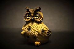 Beautiful Handmade Owl By My Mother stock images
