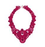 Beautiful handmade pink necklace. Royalty Free Stock Photo