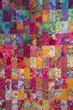 Beautiful handmade quilt Stock Photography