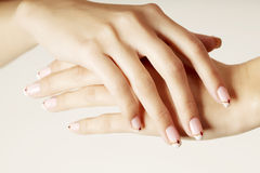 Beautiful hands with beautiful nails Stock Photo