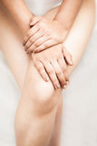 Beautiful hands and feets of indian female Royalty Free Stock Photo